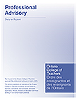 Professional Advisory Duty to Report Cover
